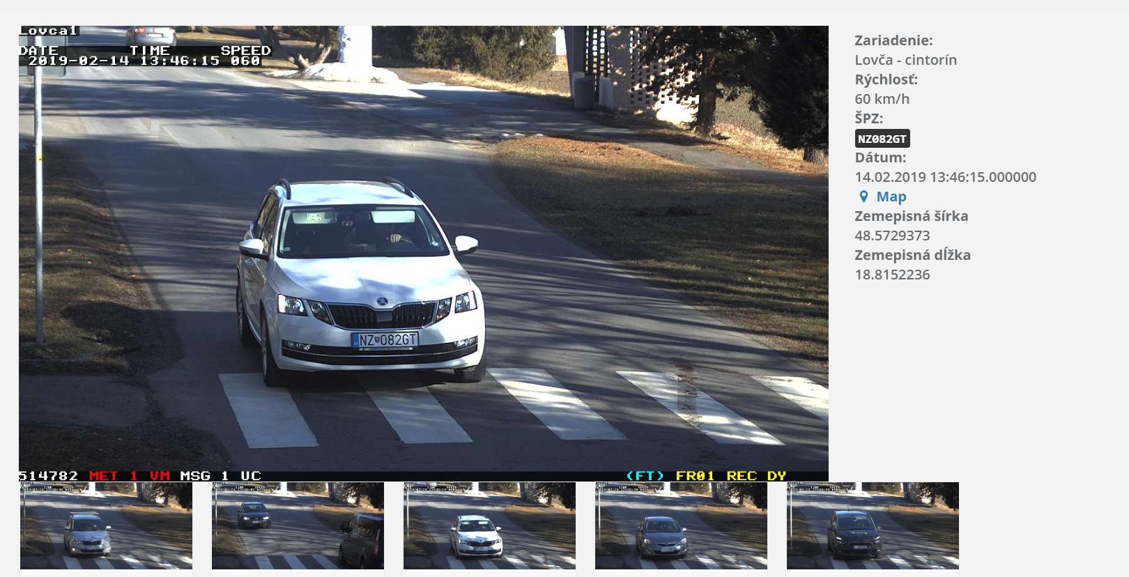 Foto merače rýchlostí vozidiel
